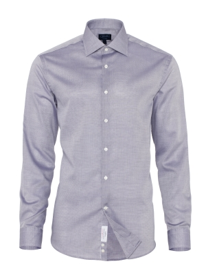 Germirli - Germirli Non Iron Gri Oxford Klasik Yaka Tailor Fit Swiss Cotton Gömlek