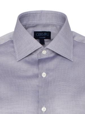 Germirli - Germirli Non Iron Gri Oxford Klasik Yaka Tailor Fit Swiss Cotton Gömlek (1)