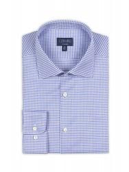 Germirli - Germirli Non Iron K.Mavi Beyaz Kareli Klasik Yaka Tailor Fit Journey Gömlek (1)