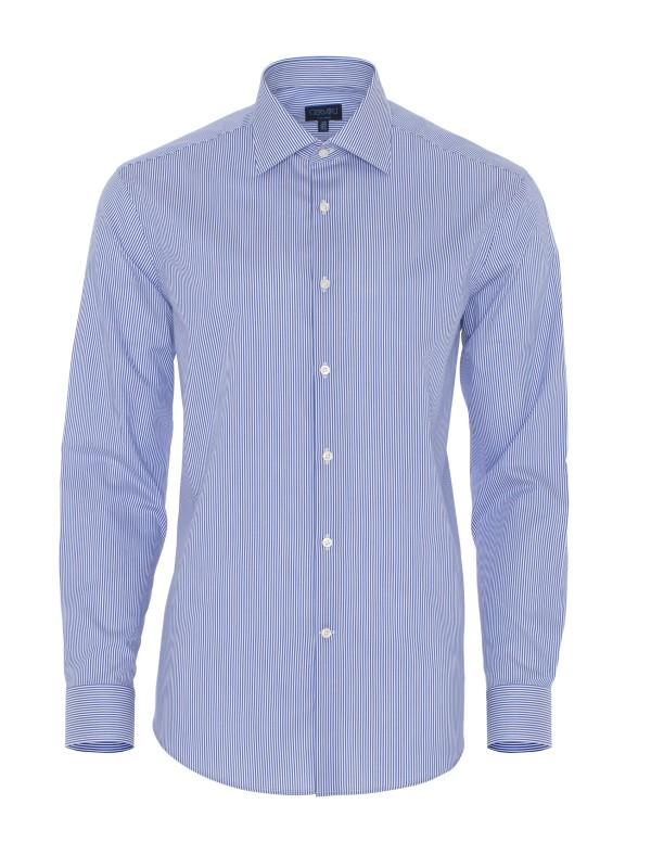 Germirli - Germirli Non Iron K.Mavi Çizgili Tailor Fit Gömlek