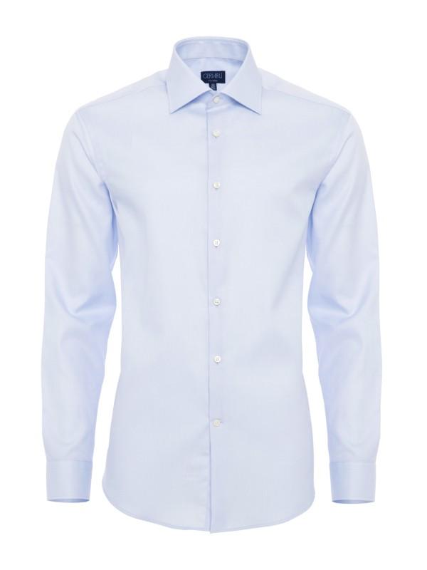 Germirli - Germirli Non Iron K.Mavi Twill Klasik Yaka Tailor Fit Journey Gömlek