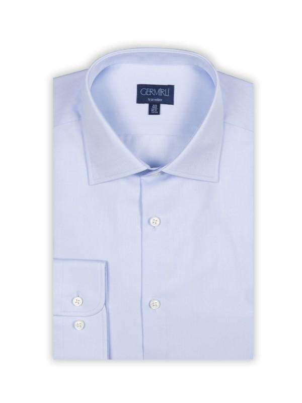 Germirli - Germirli Non Iron K.Mavi Twill Klasik Yaka Tailor Fit Journey Gömlek (1)