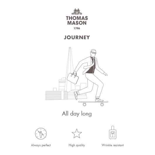 Germirli Non Iron Koyu Lila Mavi Twill Klasik Yaka Tailor Fit Journey Gömlek