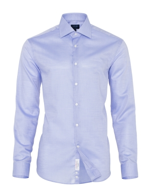 Germirli - Germirli Non Iron Koyu Mavi Oxford Klasik Yaka Tailor Fit Swiss Cotton Gömlek