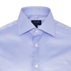 Germirli Non Iron Koyu Mavi Oxford Klasik Yaka Tailor Fit Swiss Cotton Gömlek - Thumbnail