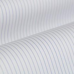 Germirli Non Iron Lacivert Çizgili Klasik Yaka Tailor Fit Gömlek - Thumbnail