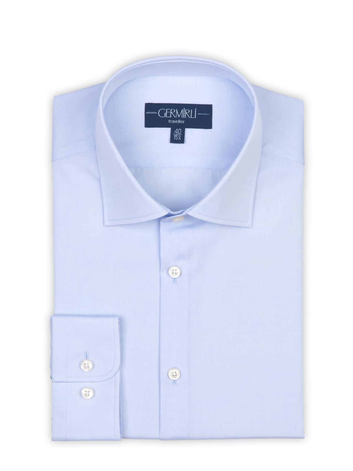 Germirli Non Iron Açık Mavi Klasik Yaka Tailor Fit Gömlek