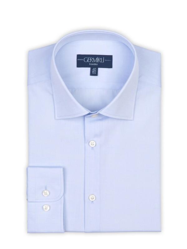 Germirli - Germirli Non Iron Laci Klasik Yaka Tailor Fit Gömlek (1)