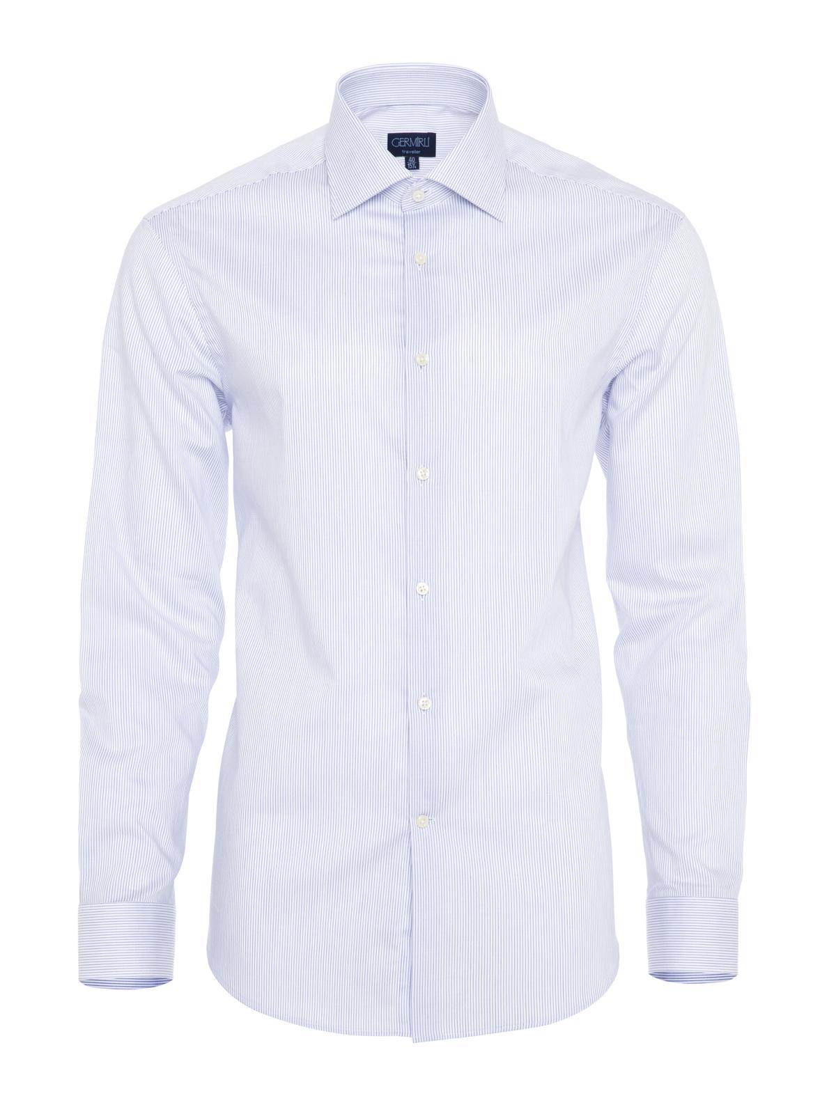 Germirli Non Iron Laci Çizgili Klasik Yaka Tailor Fit Gömlek