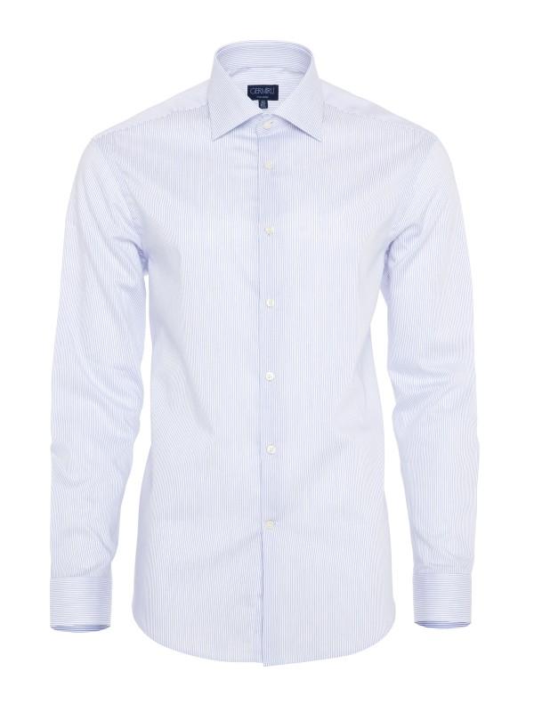 Germirli - Germirli Non Iron Laci Çizgili Klasik Yaka Tailor Fit Gömlek