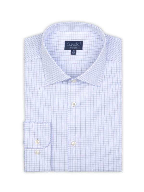 Germirli - Germirli Non Iron Laci Kareli Klasik Yaka Tailor Fit Gömlek (1)