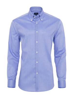 Germirli - Germirli Non Iron Light Blue Oxford Button Down Collar Tailor Fit Shirt