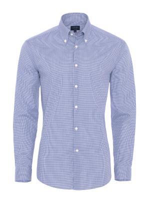 Germirli Non Iron Light Blue Plaid Button Down Tailor Fit Shirt