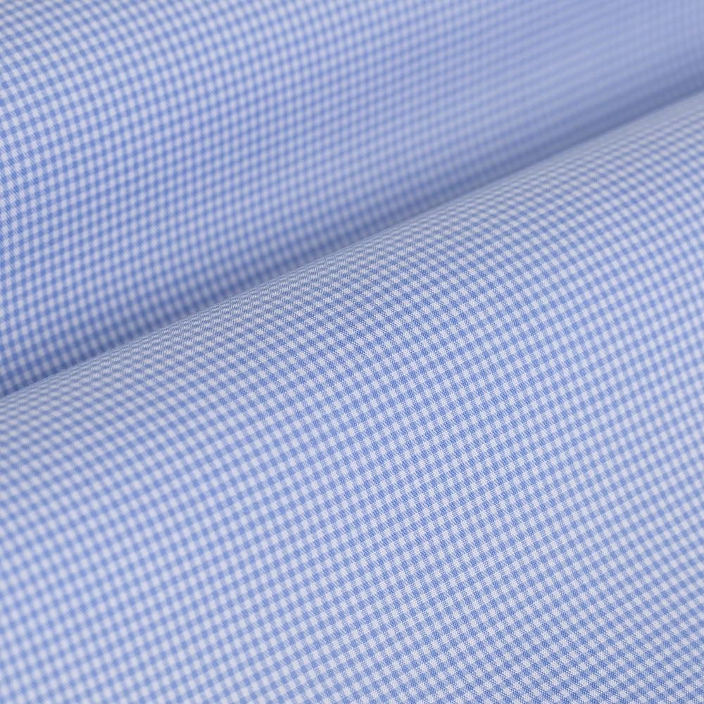 Germirli Non Iron Light Blue Plaid Tailor Fit Shirt