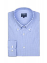Germirli - Germirli Non Iron Light Blue Plaid Tailor Fit Shirt (1)