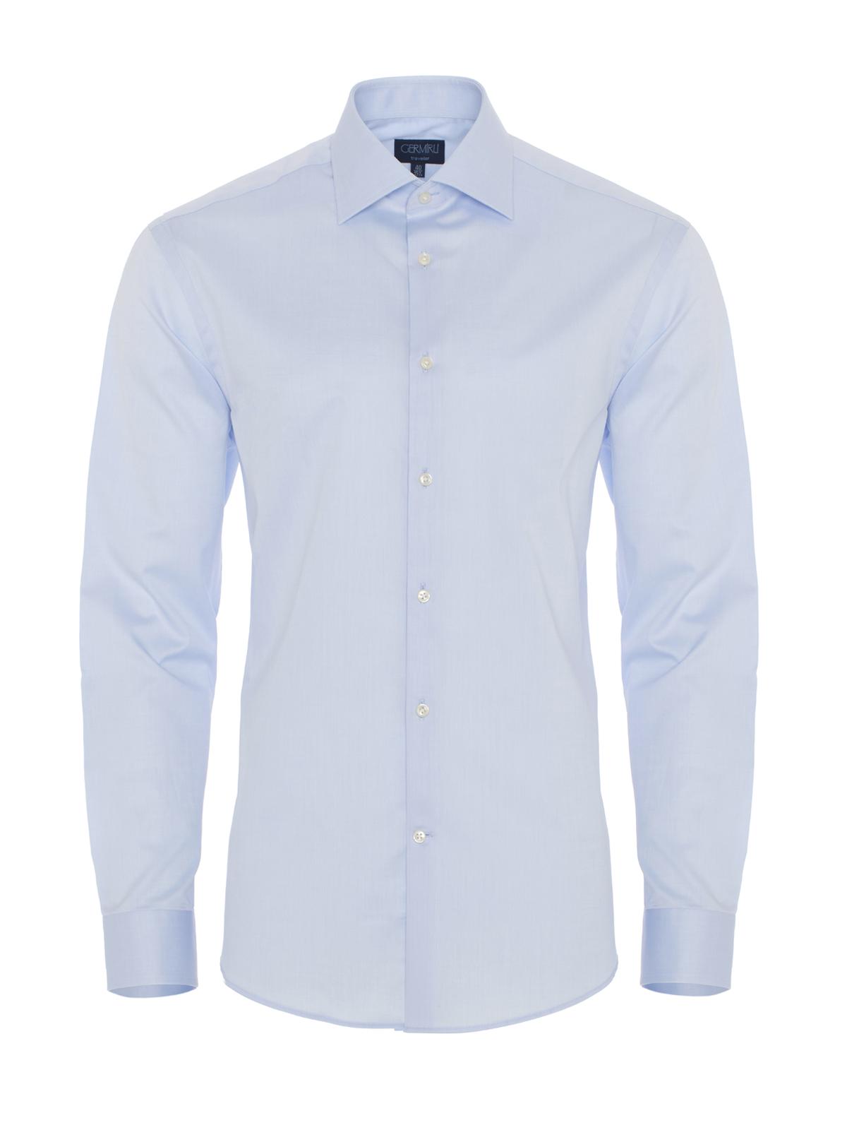 Germirli Non Iron Light Blue Twill Tailor Fit Shirt