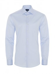 Germirli - Germirli Non Iron Light Blue Twill Tailor Fit Shirt