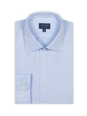 Germirli - Germirli Non Iron Light Blue Twill Tailor Fit Shirt (1)