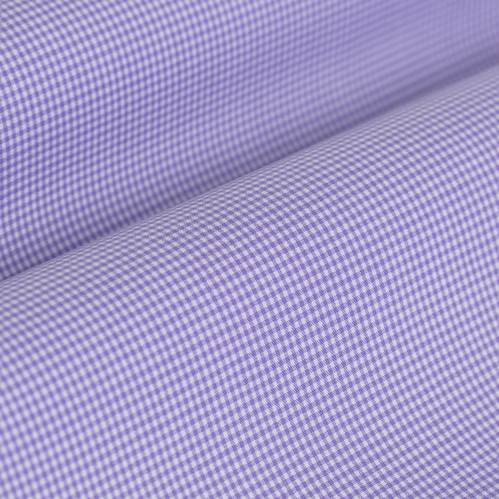 Germirli Non Iron Lila Kareli Düğmeli Yaka Tailor Fit Gömlek