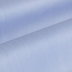 Germirli Non Iron Mavi Beyaz Çizgili Klasik Yaka Tailor Fit Journey Gömlek - Thumbnail