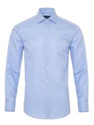 Germirli - Germirli Non Iron Mavi Beyaz Kareli Klasik Yaka Tailor Fit Journey Gömlek