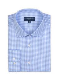 Germirli - Germirli Non Iron Mavi Beyaz Kareli Klasik Yaka Tailor Fit Journey Gömlek (1)