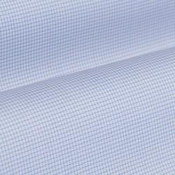 Germirli Non Iron Mavi Beyaz Küçük Kareli Düğmeli Yaka Tailor Fit Journey Gömlek - Thumbnail