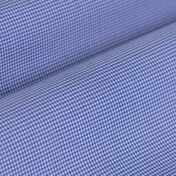 Germirli Non Iron Mavi Kareli Düğmeli Yaka Tailor Fit Gömlek - Thumbnail