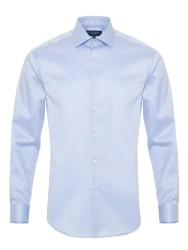 Germirli Non Iron Mavi Oxford Semi Spread Tailor Fit Journey Shirt - Thumbnail