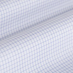 Germirli Non Iron Navy Blue Plaid Semi Spread Tailor Fit Shirt - Thumbnail