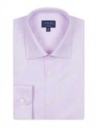 Germirli Non Iron Pink Twill Semi Spread Tailor Fit Journey Shirt - Thumbnail