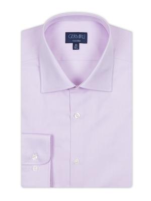 Germirli - Germirli Non Iron Pink Twill Semi Spread Tailor Fit Journey Shirt (1)