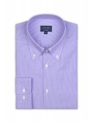 Germirli - Germirli Non Iron Purple Plaid Button Down Collar Tailor Fit Shirt (1)