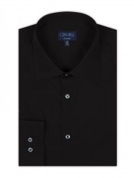 Germirli - Germirli Non Iron Siyah Poplin Klasik Yaka Tailor Fit Gömlek (1)