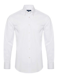Germirli - Germirli Non Iron White Button Down Collar Tailor Fit Zero 24 Shirt
