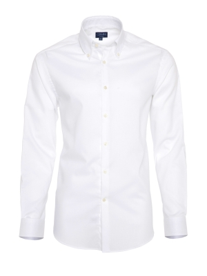 Germirli - Germirli Non Iron White Oxford Button Down Collar Tailor Fit Shirt