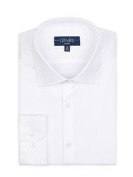 Germirli - Germirli Non Iron White Oxford Semi Spread Tailor Fit Jouney Shirt (1)