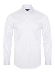 Germirli - Germirli Non Iron White Oxford Semi Spread Tailor Fit Jouney Shirt