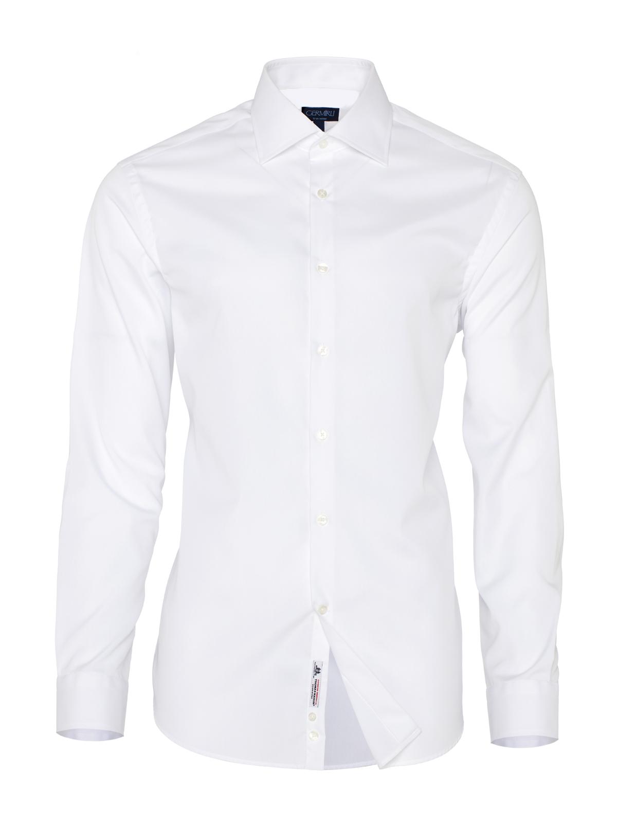 Germirli Non Iron White Oxford Semi Spread Tailor Fit Journey Shirt