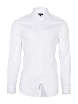 Germirli - Germirli Non Iron White Oxford Semi Spread Tailor Fit Journey Shirt