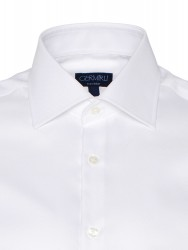 Germirli - Germirli Non Iron White Oxford Semi Spread Tailor Fit Journey Shirt (1)