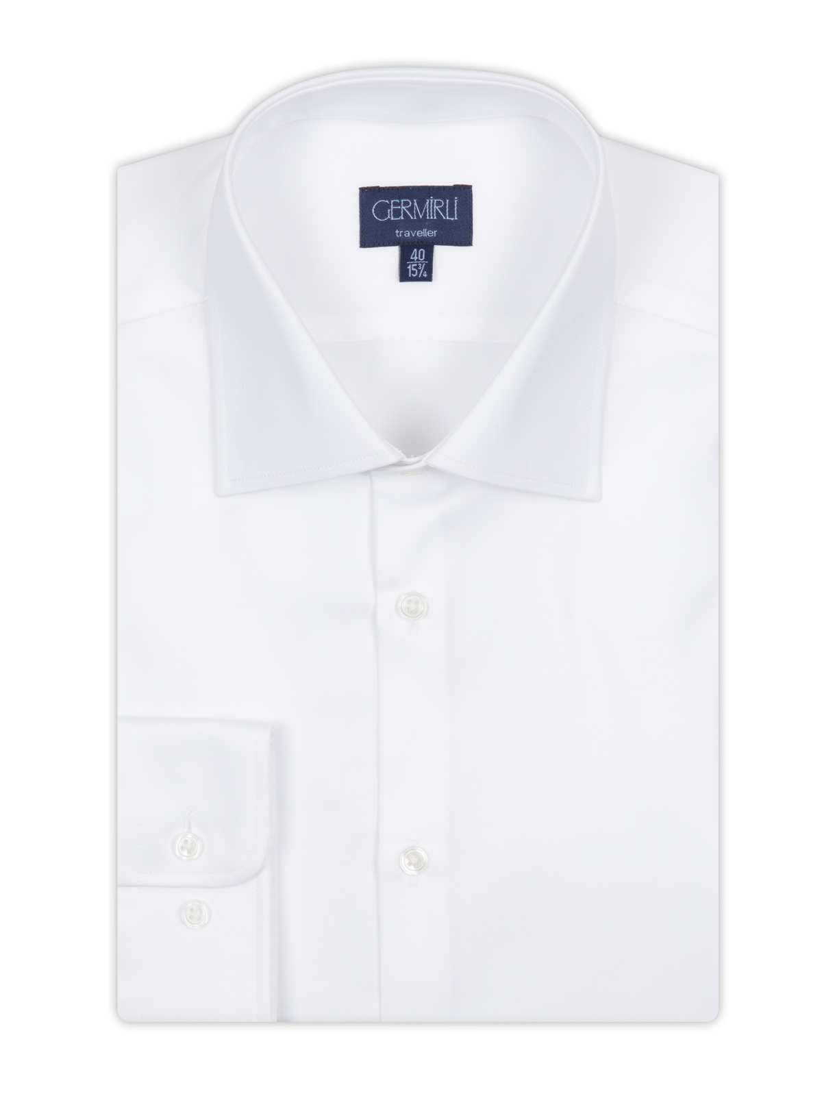 Germirli Non Iron White Semi Spread Tailor Fit Journey Shirt