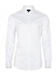 Germirli - Germirli Non Iron White Twill Semi Spread Tailor Fit Shirt