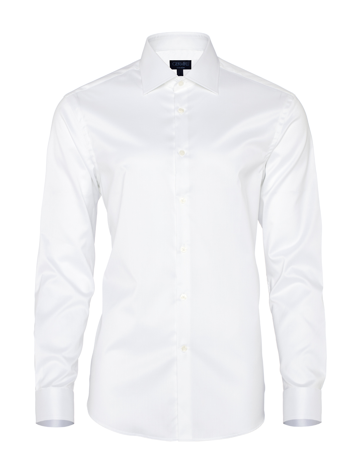 Germirli Non Iron White Twill Tailor Fit Shirt