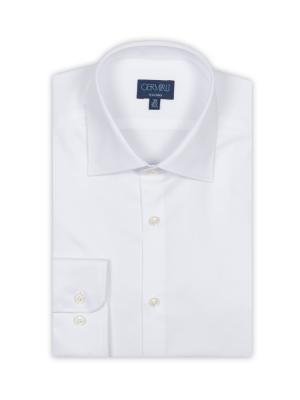 Germirli - Germirli Non Iron White Twill Tailor Fit Shirt (1)