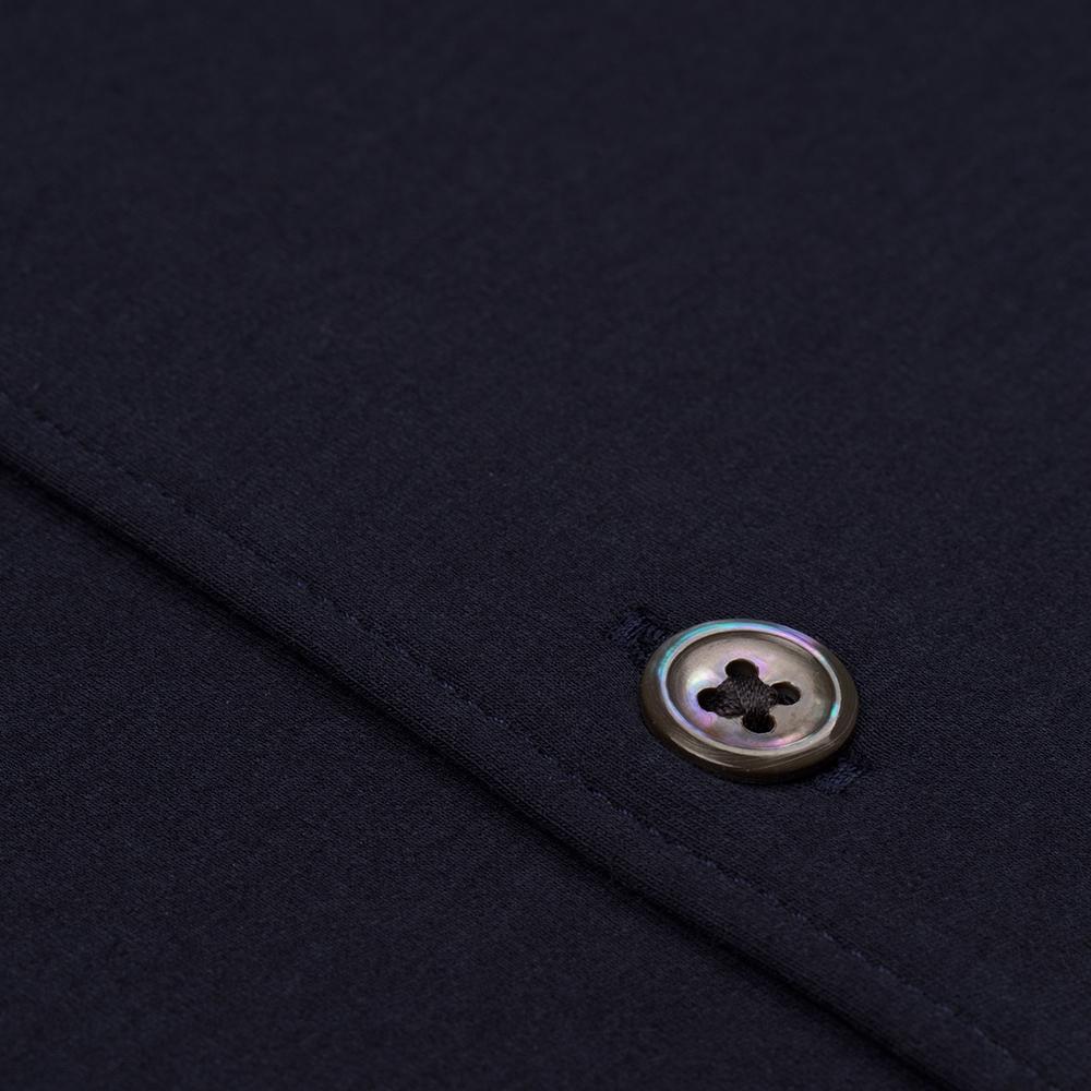Germirli Pamuklu Lacivert 3D Streç Slim Fit Active Gömlek