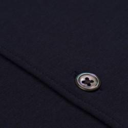Germirli Pamuklu Lacivert 3D Streç Slim Fit Active Gömlek - Thumbnail