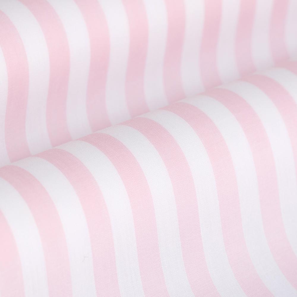 Germirli Pembe Beyaz Çizgili Düğmeli Yaka Tailor Fit Gömlek