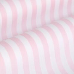 Germirli Pembe Beyaz Çizgili Düğmeli Yaka Tailor Fit Gömlek - Thumbnail