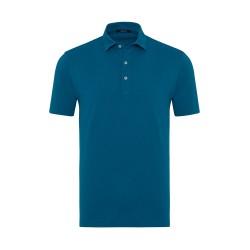 Germirli - Germirli Petrol Yeşili Gömlek Yaka Polo Tailor Fit T-Shirt